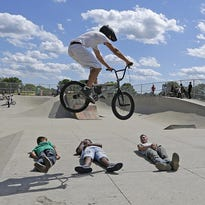 3rd annual BMX Jam and Cycle show at Fond du Lac skate park