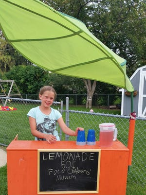 Eight-year-old Madison Beck, of Weston, has sold lemonade for the past two summers to raise money for the Children's Museum of Marathon County.