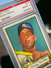 A Mickey Mantle rookie card is estimated to sell for