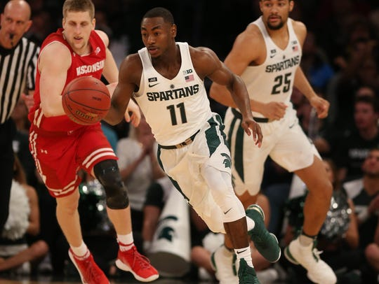 Michigan State guard Lourawls Nairn Jr. brings the