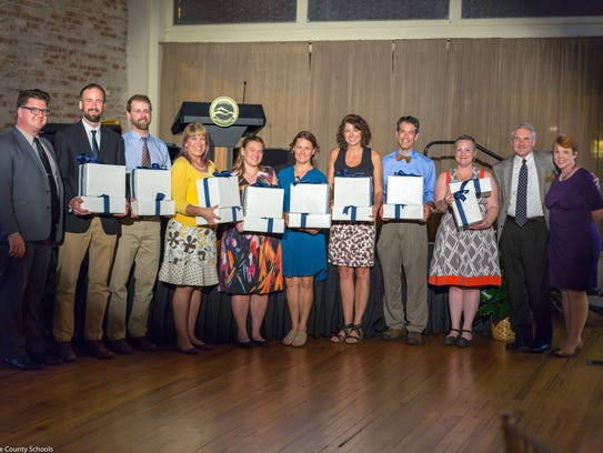 BCS district teachers of the year hold special gifts