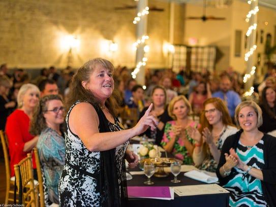 Cathy Belair, last year's BCS Teacher of the Year,