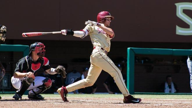 Jackson Lueck is leading Florida State in batting average, hitting .460 this season.