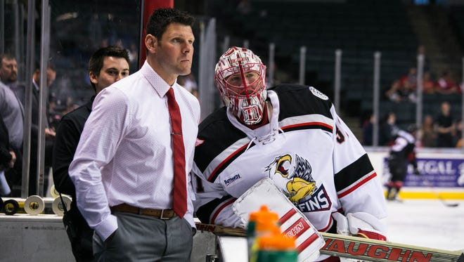 Jeff Salajko works with the Grand Rapids Griffins.