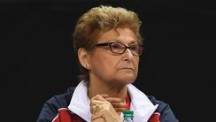 Martha Karolyi during the women's gymnastics U.S. Olympic