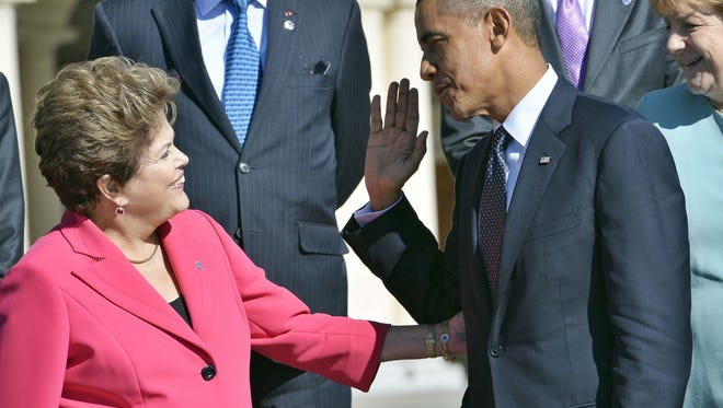 President Obama and Brazil's President Dilma Rousseff last year.