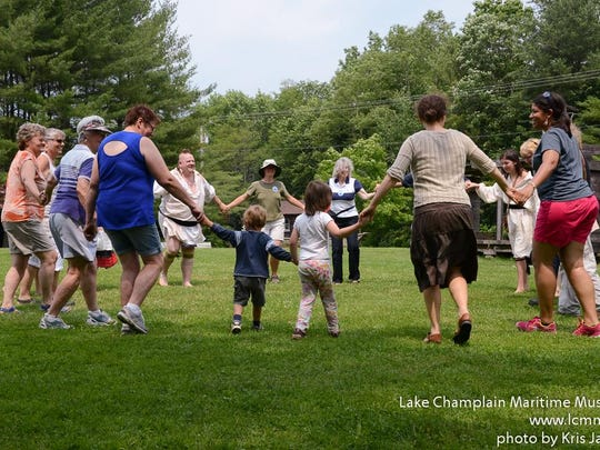 Visitors had the opportunity to join a social dance circle at Abenaki Heritage Weekend at the Lake Champlain Maritime Museum last June.
