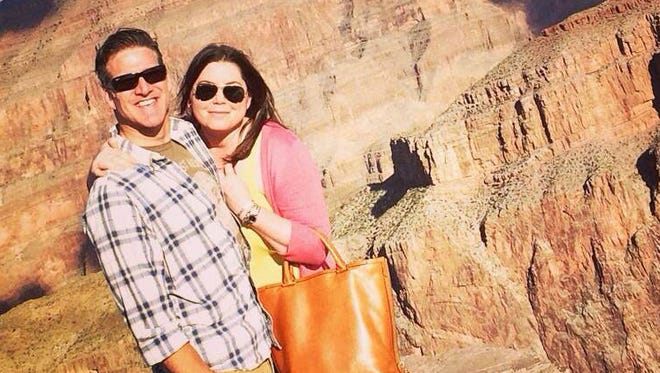 Brittany Maynard and her husband, Dan Diaz, pose at the Grand Canyon National Park in Arizona. The Grand Canyon was one of her bucket list stops.