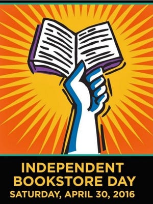 The poster for Independent Bookstore Day. At least 3 WNC shops are hosting events.