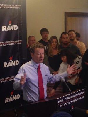 Sen. Rand Paul, R.Ky., in Milford, N.H.