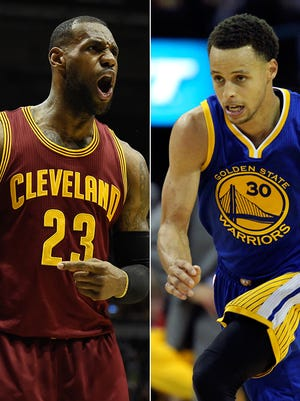 LeBron James and Stephen Curry are the two most popular, marketable stars in the NBA.