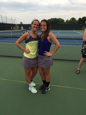 Sara Ogle and Emily Decker, Delta's No. 1 doubles team, will advance to state despite the Eagles' semistate loss to Cathedral.