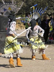 Apache crown dancers from the White Mountains will