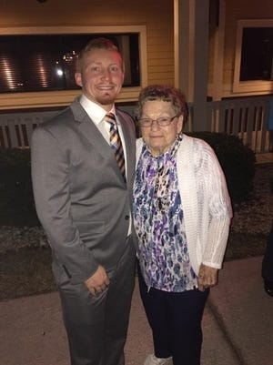 Quinton Langford and his great grandmother Evelyn Milton. Langford worked is way from Plant City to Florida A&M University to enter the mechanical engineering program. He was killed by gunfire after a party during FAMU's homecoming celebration in October.
