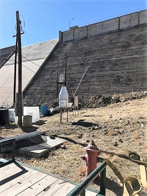 The new home for Ruidoso's official NOAA weather station is at the Grindstone Dam and water treatment plant.