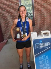 Former Simon Kenton star Christina Cook finished sixth in the NCAA finals for Thomas More College.