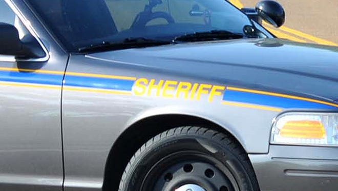 This is a photo illustration of a Hinds County Sheriff Department car.