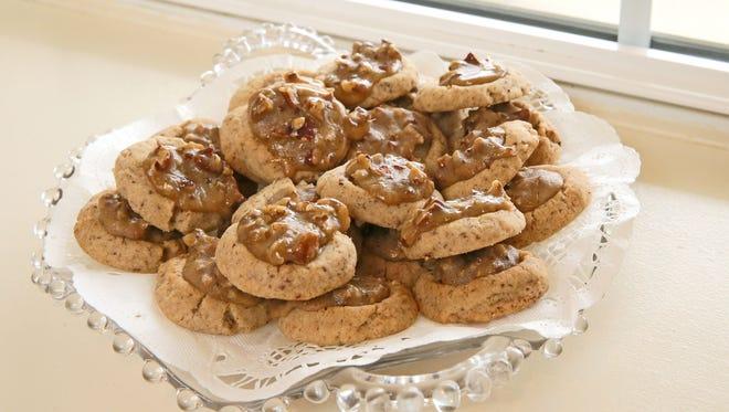 Grand prize winning cookies: Pecan Praline Thumbprints.