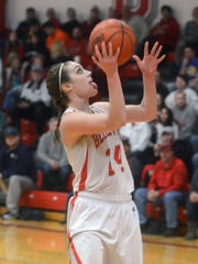 Carly Santoro scored 2,387 points at Bellevue.