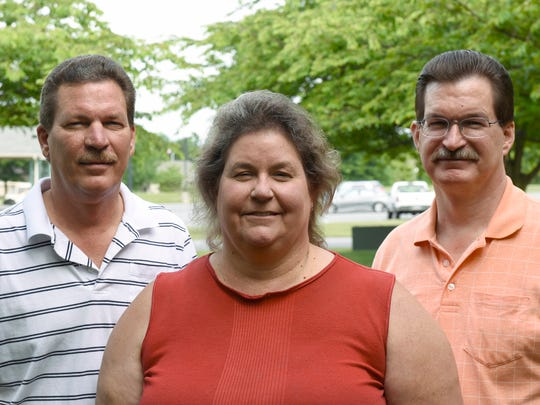 Gary McBeth and his siblings, Kay and Stan pose for photos on Friday,  June 24, 2016 near Scotland. Fifty years ago the three siblings were lost in the woods near Roxbury Holiness Campgrounds for about five hours, prompting a massive search.