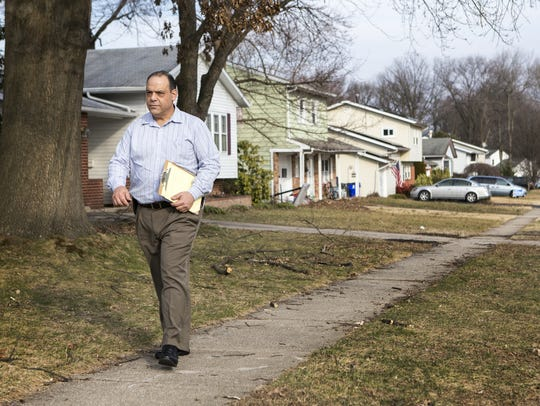 Republican senate candidate John Marino canvasses a