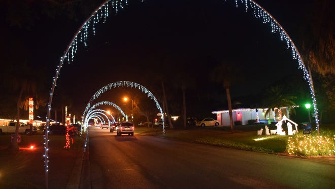 Windsor Way is known for the lighted arches that arc over the street.