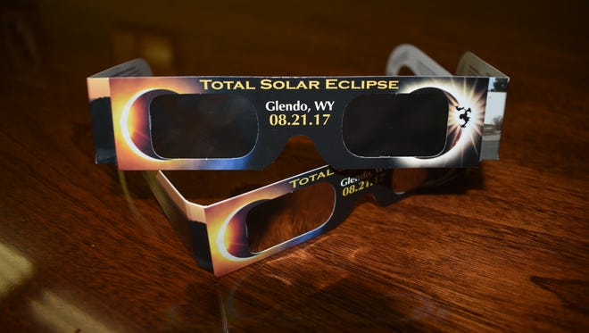 These glasses are safe for viewing the total solar eclipse. NASA recommends viewing glasses and handheld solar viewers should have certification information with a designated ISO 12312-2 international standard, have the manufacturer's name and address printed somewhere on the product, not be used if they are older than three years, or have scratched or wrinkled lenses.