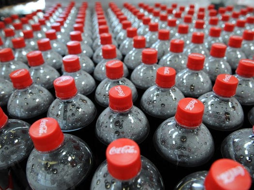 1.2 billion servings of Coca-Cola are served daily. That's equivalent to two out of every eight people in the world drinking Coke.