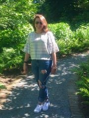 Jenna Intersimone at the Frelinghuysen Arboretum.