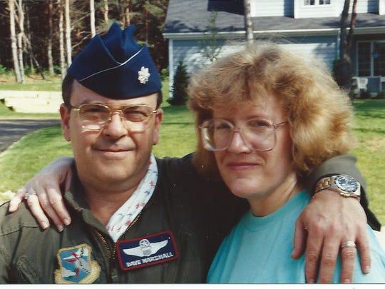 David and Cheryl Marshall during David's Air Force Days