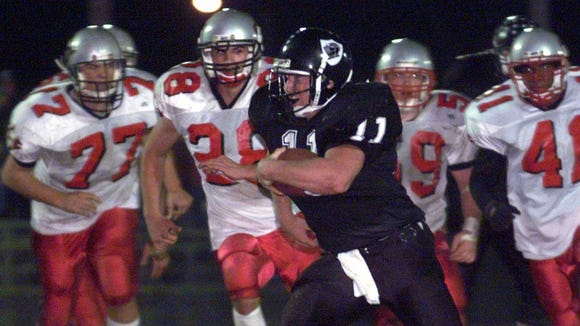 Former Robbinsville football player Aaron Gross (11)