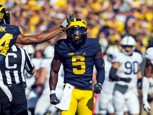Jabrill Peppers leads Michigan in helmet stickers, 'good ...