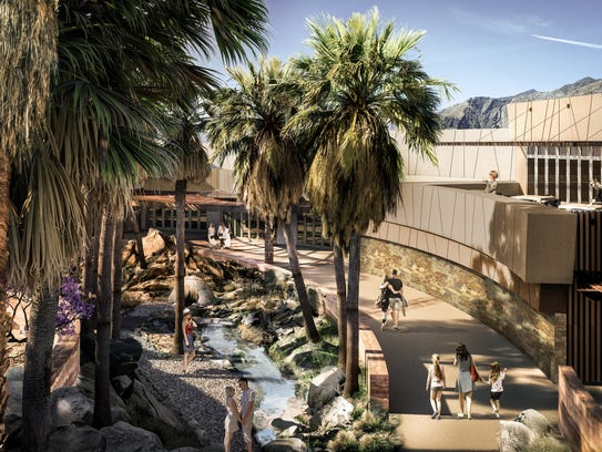 A rendering of the planned Agua Caliente Cultural Museum