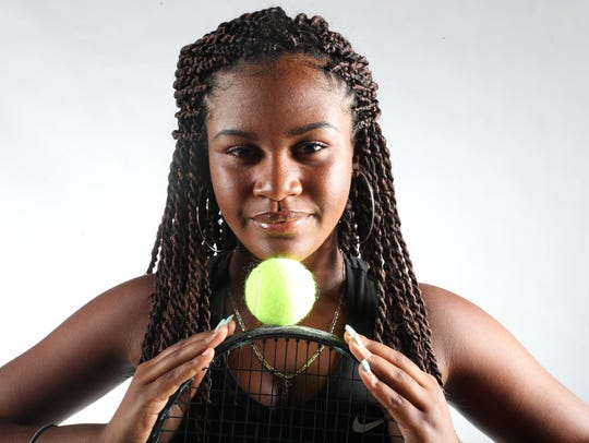 Shani Idlette from Fort Myers High School is a News-Press tennis finalist.