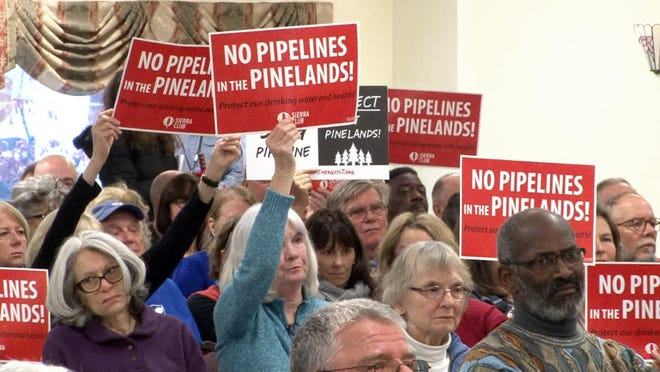 People fill a room at the St. Ann's Catholic Church in Browns Mill Jan. 24 during the public portion of the Pinelands Commission meeting on the proposed natural gas pipeline that would cut through the Pinelands.