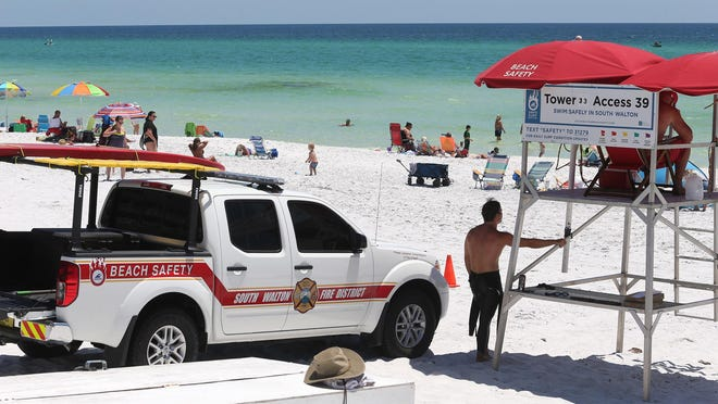 Walton County beach safety personnel were on duty at Gulf Place in South Walton County.