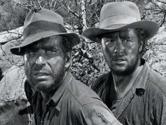 A scene from 'THE TREASURE OF THE SIERRA MADRE' in 1948.