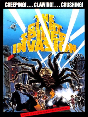 """Movie poster for """"The Giant Spider Invasion."""""""