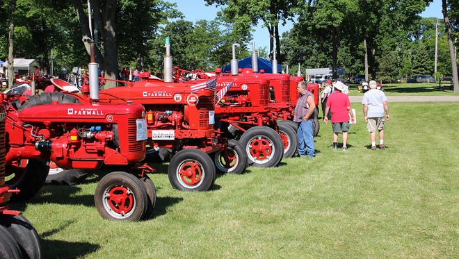 Row after row of beautiful antique Farmall and International tractors and trucks will be on display for four days at Garrett Coliseum in June.