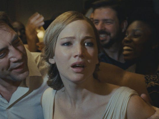 "Javier Bardem and Jennifer Lawrence star as a married couple in ""mother!"""