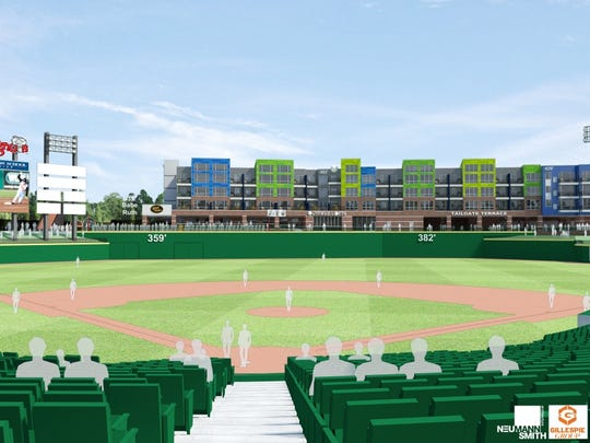 Outfield rendering