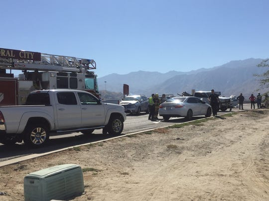 Several people were injured in a multi-vehicle collision on Ramon Road in Palm Springs, according to police.