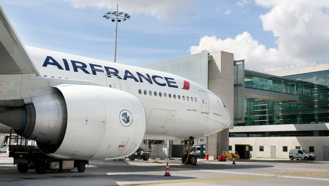 An undated file photo of an Air France Boeing 777.