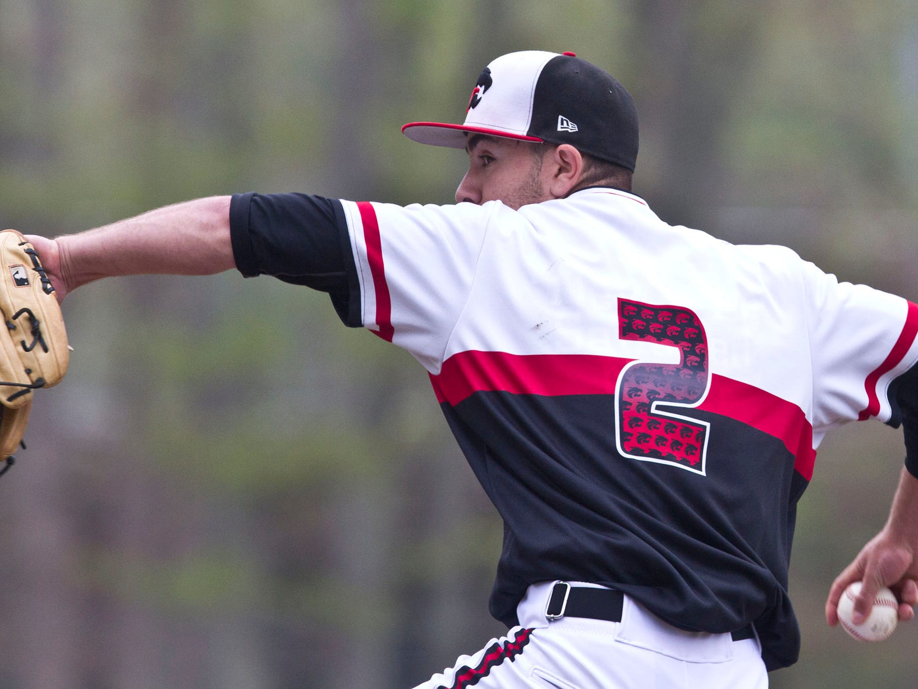Brandon Janofsky, shown pitching against Toms River South on May 9 in an Ocean County Tournament semifinal, has helped Jackson Memorial to the No. 2 ranking in the Asbury Park Press Top 10