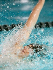 Parsippany Hills Evan Bota swims the boys 100 yard