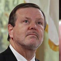 Senate leader Phil Berger, left, and Gov. Pat McCrory