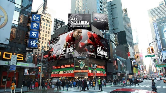 Mock-up of billboard that is going to go live in Times Square.