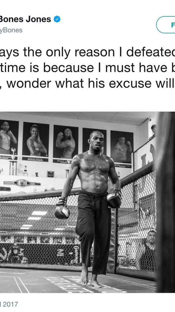 Jon Jones' July tweet about steroids could not have aged worse