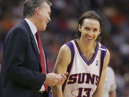 119915 Suns10 Suns Spurs Mike D'Antoni, Steve Nash