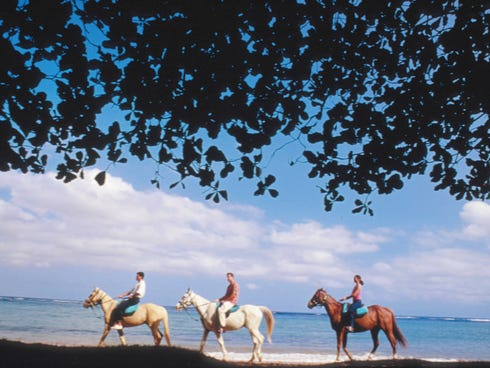 Horseback riding is an amazing way to explore the landscape of Jamaica.